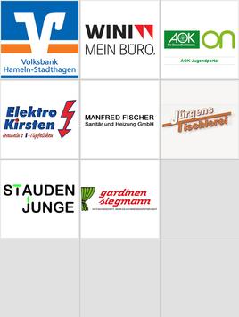 Logos der Internetsponsoren dieses Vereins